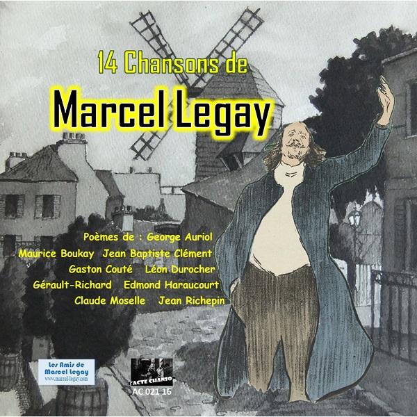 """CD """"14 Chansons de Marcel Legay"""" Recto"""
