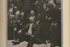 """Une réunion de la """"Société du Cornet"""", 1897."""