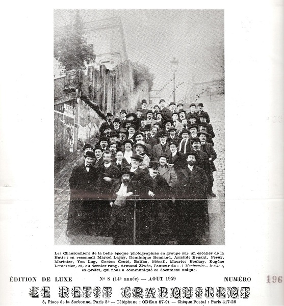 Les chansonniers de la belle époque, 1905 ?