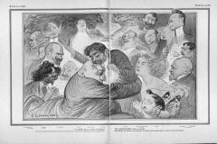 La remise de la croix au prince des chansonniers, Léandre, 1906