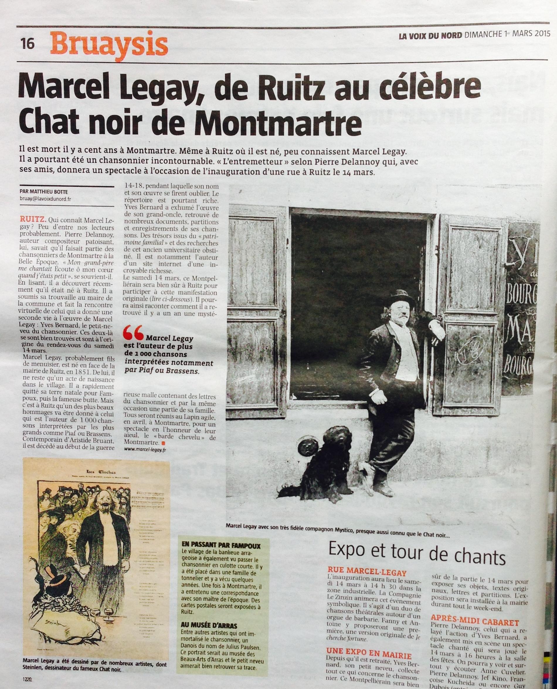 2015-03-01_Article_quotidien Voix du Nord_Dimanche 1Mars2015_page 16