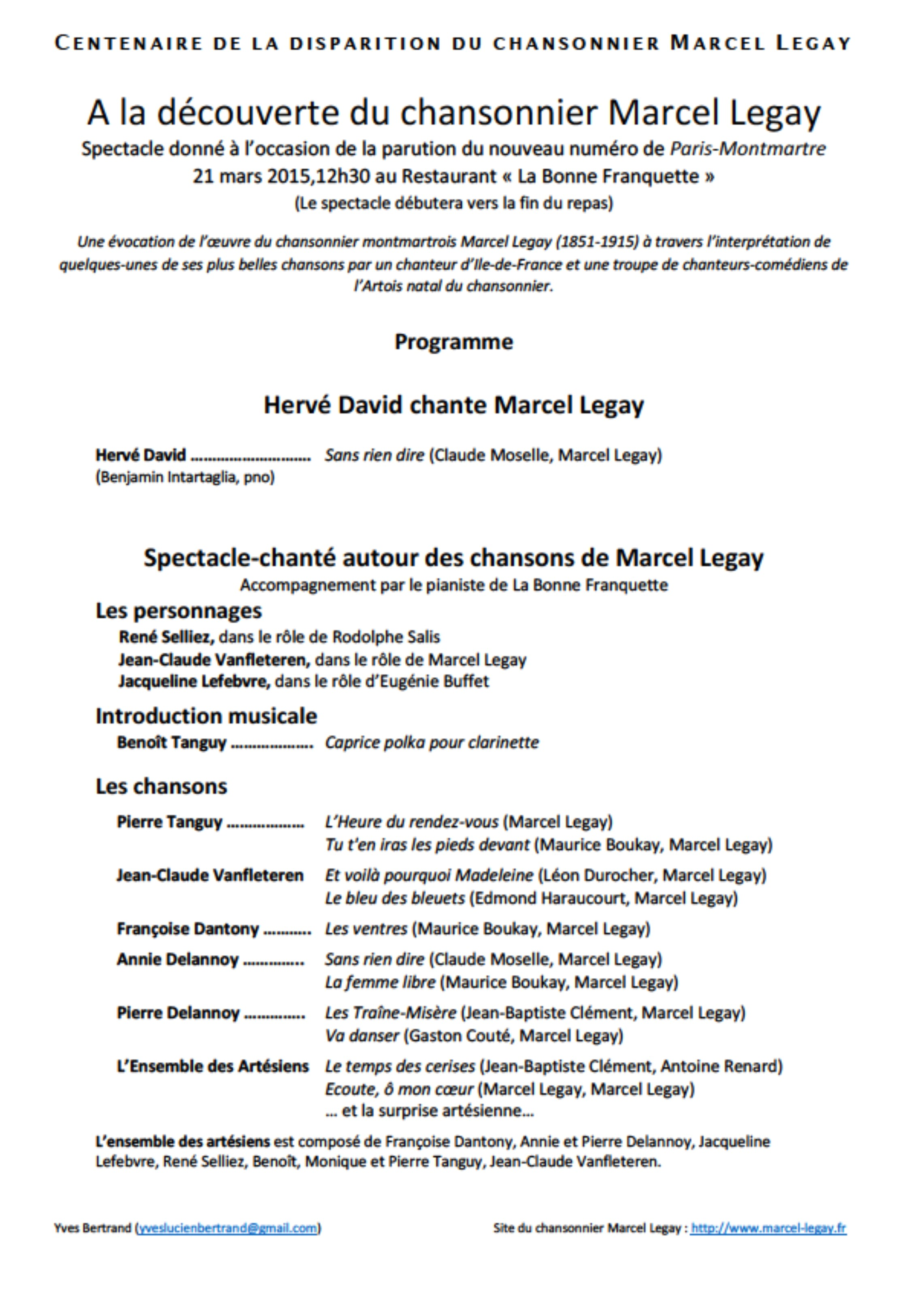 2015-03-21_Programme_Spectacle_La Bonne Franquette_Paris
