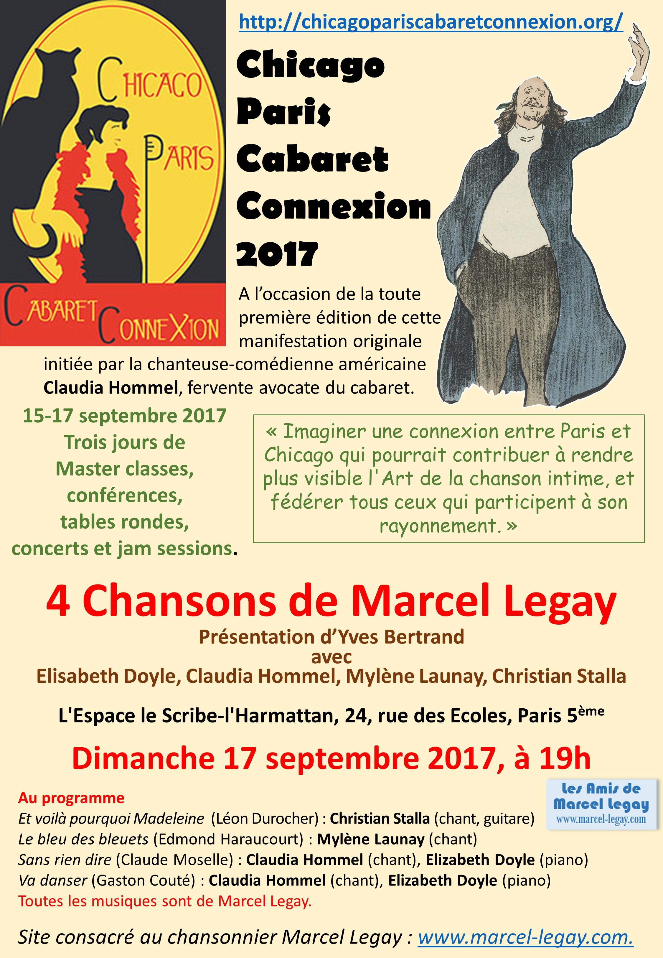 2017-09-17_Affiche-programme_Conférence-spectacle à la Chicago-Paris-Cabaret-Connexion_2017_Paris