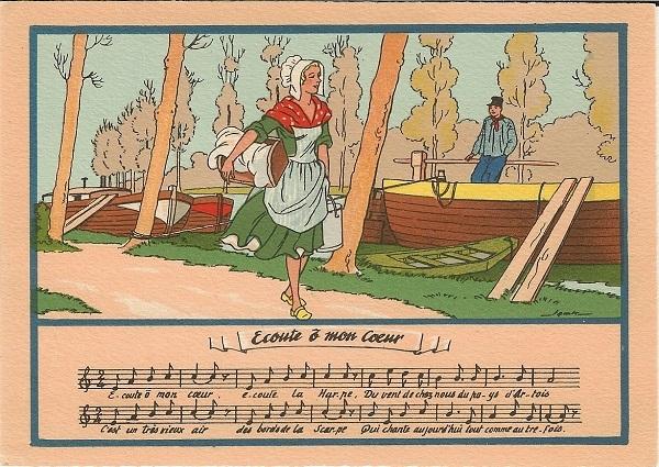 Carte postale Ecoute, ô mon coeur