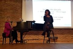 """Mylène Launay (Paris) chante """"Le bleu des bleuets"""" de Legay. Elizabeth Doyle est au piano."""