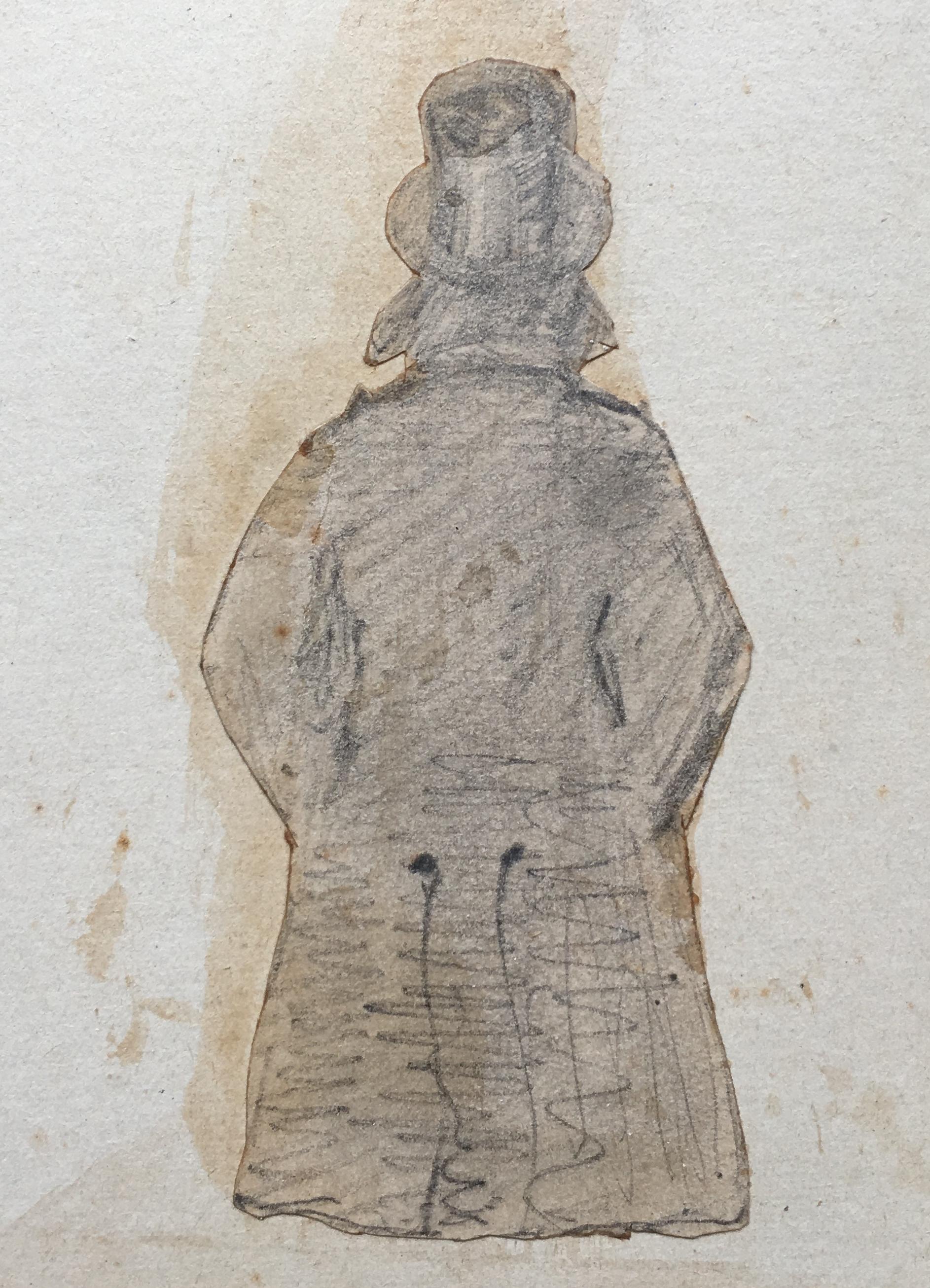 Marcel Legay vu de dos, dessinateur non identifié
