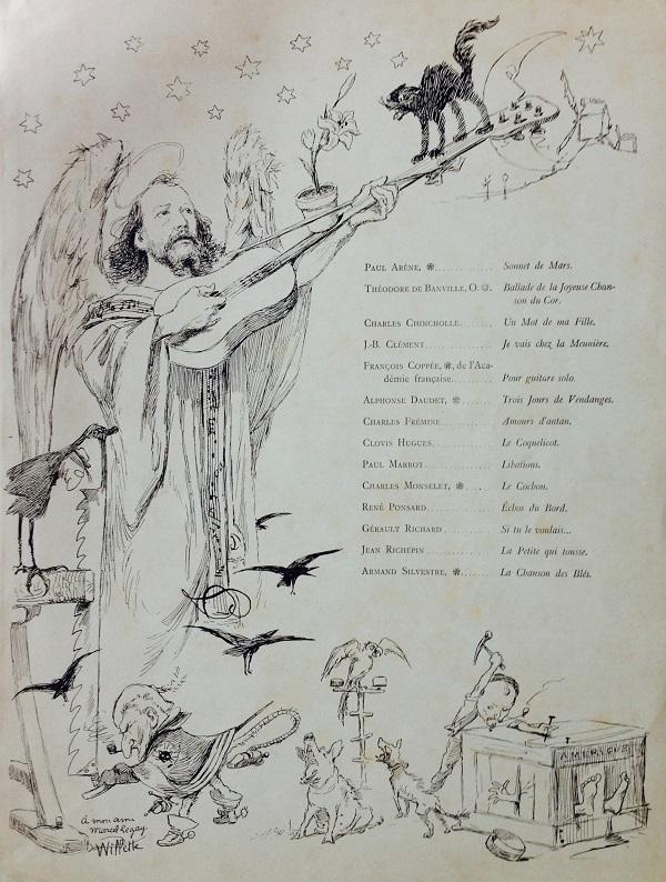 Marcel Legay par Adolphe Léon Willette, 1886. [1]