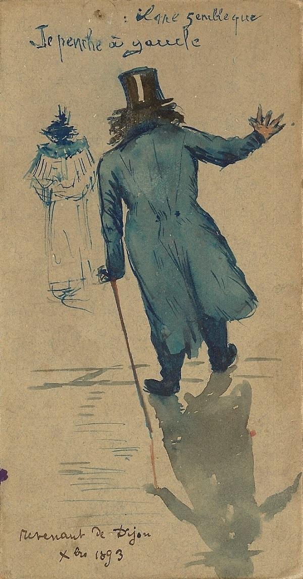 En revenant de Dijon, 1893.