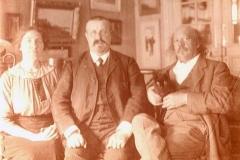 Marcel et Berthe Legay avec Ernest Berthet, 1912 ?