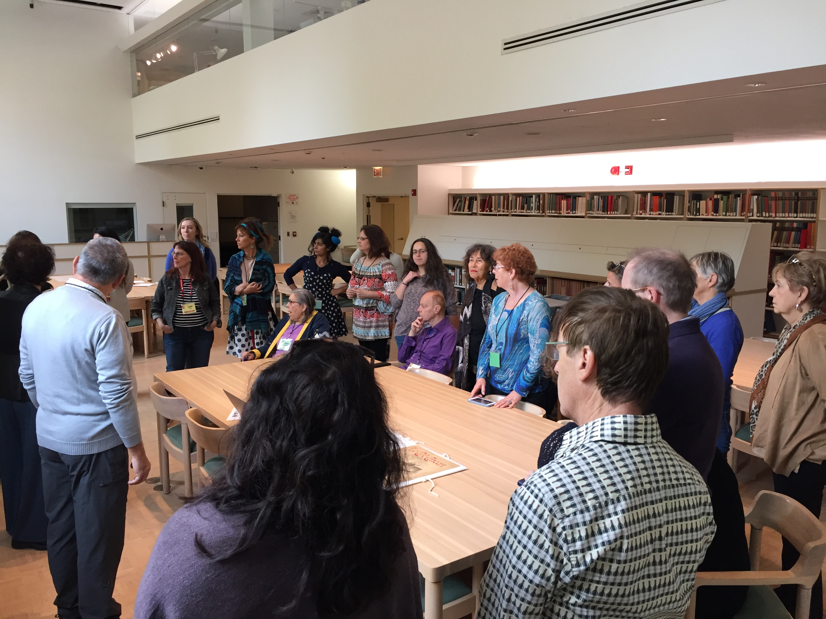 Le groupe CPCC lors de la présentation à l'Art Institute of Chicago.