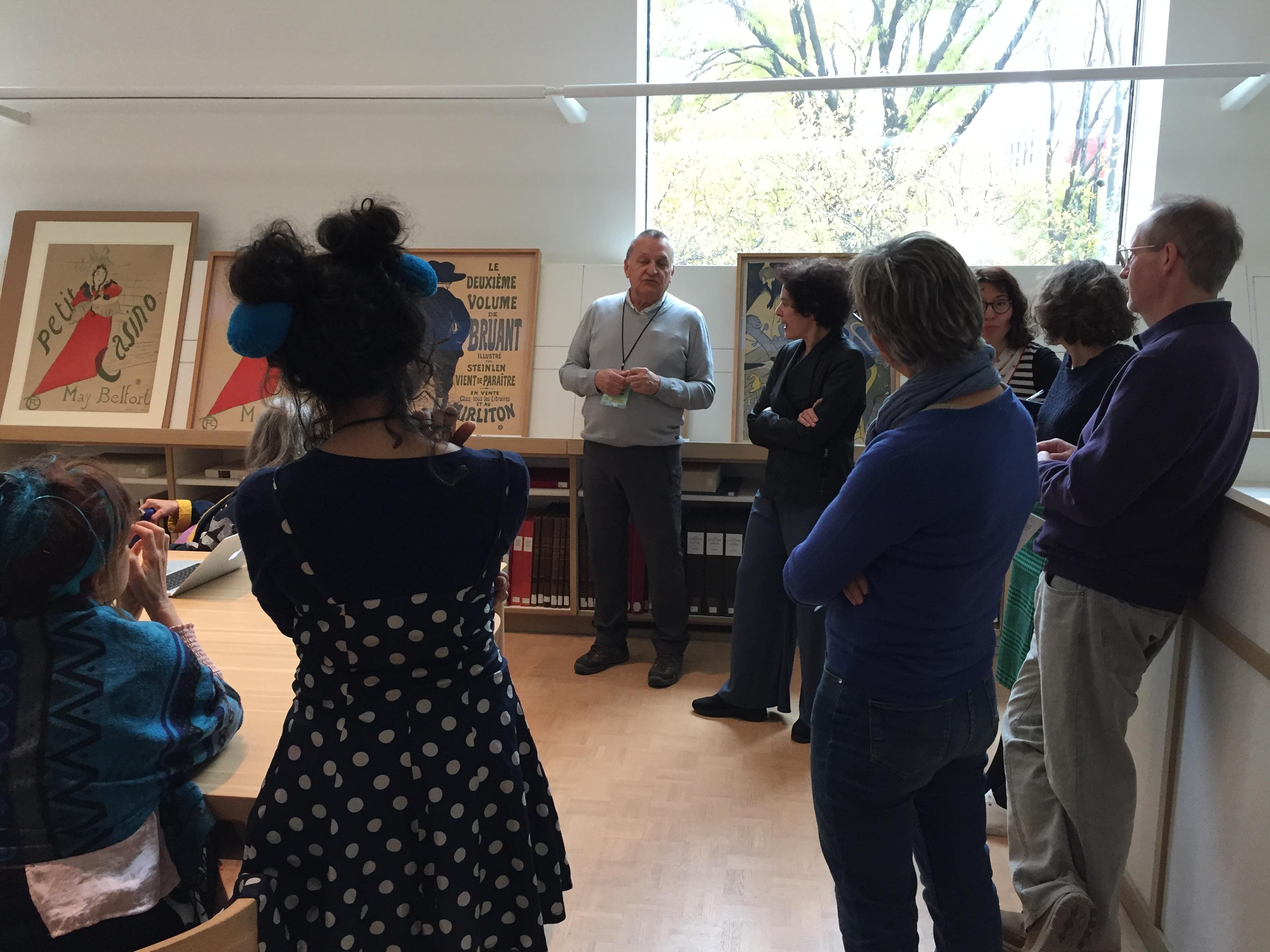 Suite de la présentation : May Belfort et Aristide Bruant par Toulouse-Lautrec.