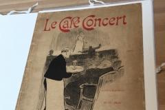 La page de couverture du fascicule Le Café Concert.