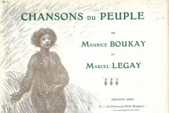 Chansons du peuple (dessin de Steinlen : la semeuse)