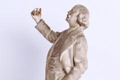 Marcel Legay, statuette de Daniel Bacqué (profil gauche), n.d